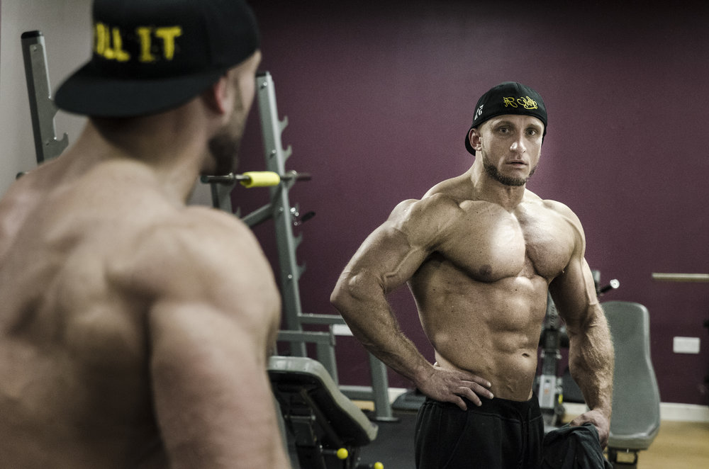 Martin Zalewski, semi-pro bodybuilder.