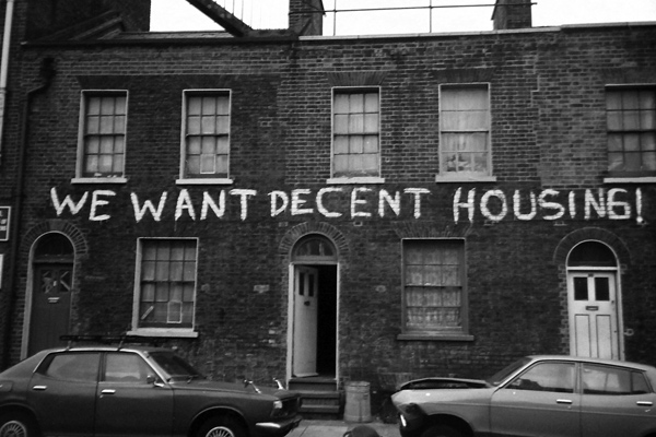 We Want Decent Housing. Photo source: Black Panther Party archive.