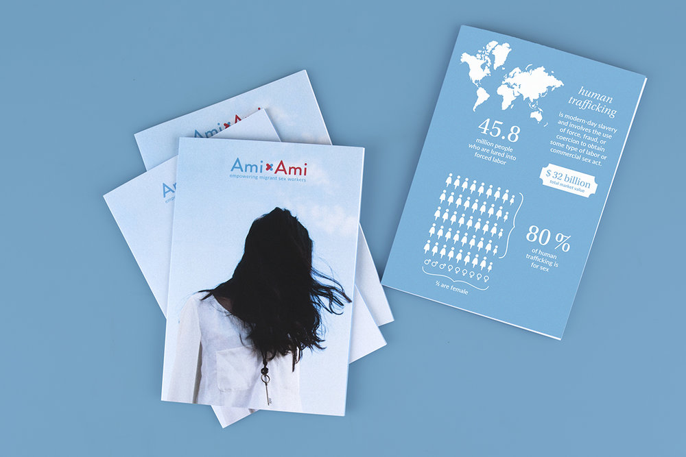 Ami Ami's brochures designed by Charlotte Ladiges.