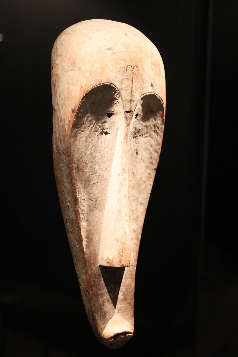 Fang Mask . Wood and pigment, 19th century.