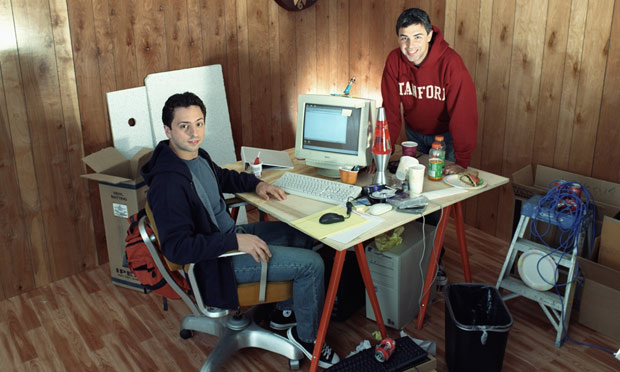 Larry Page and Sergey Brin, Co-founders of Google, 2002. Photo source:  The Red List.