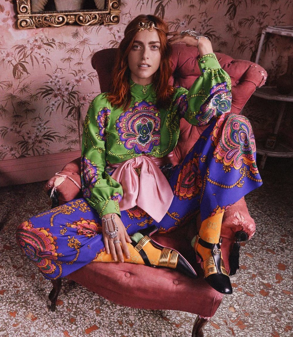 Gucci 'Roman Rhapsody' Cruise 18 campaign, shot by Mick Rock