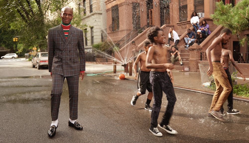 Dapper Dan in Gucci's Mens Tailoring campaign shot by Glen Luchford