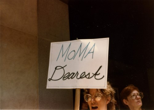 Protest outside MoMA. Photo source: Guerrilla Girls Archive.