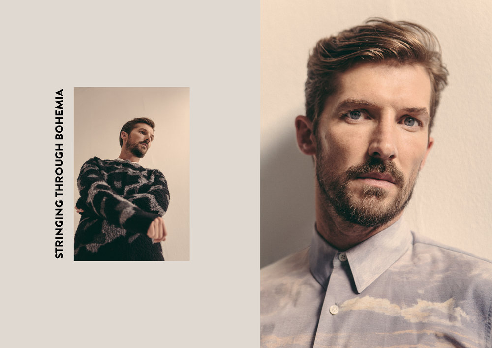 Gwilym wears all looks by    Stella McCartney  .