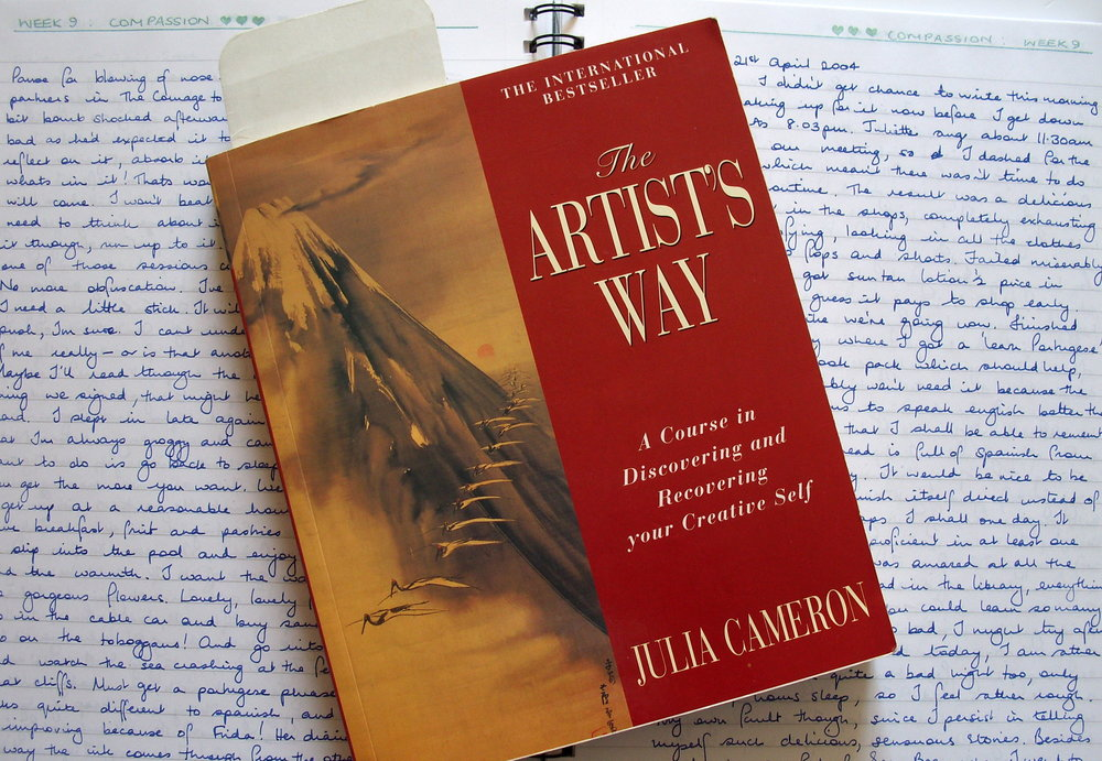 Morning Pages and Julia Cameron's book  The Artist's Way,  2016. Images source:  evenlodesfriend.com