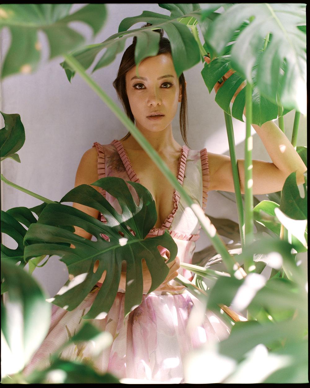 Dress by   Badgley Mischka .