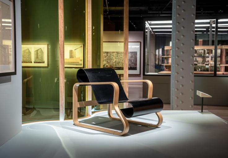 Paimio chair , 1930-2 by Alvar Aalto.