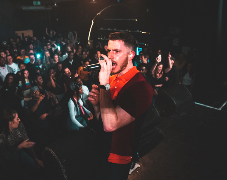 Nick Brewer performing at Hoxton Square in London, 2019. Photo by  Oliver Hosier .