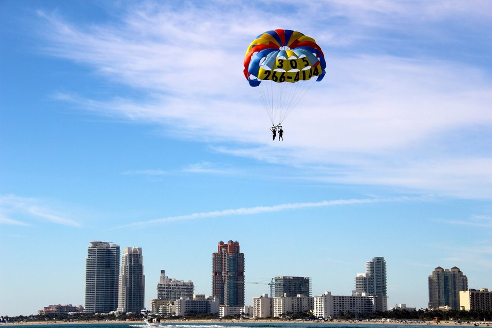 South Beach Parasail Unique View