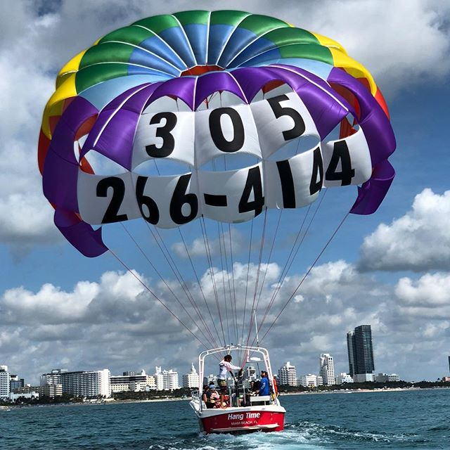 Awesome week of weather conditions for the #parasailing #bucketlist #miamibeach #miami #southbeachparasail #bestview