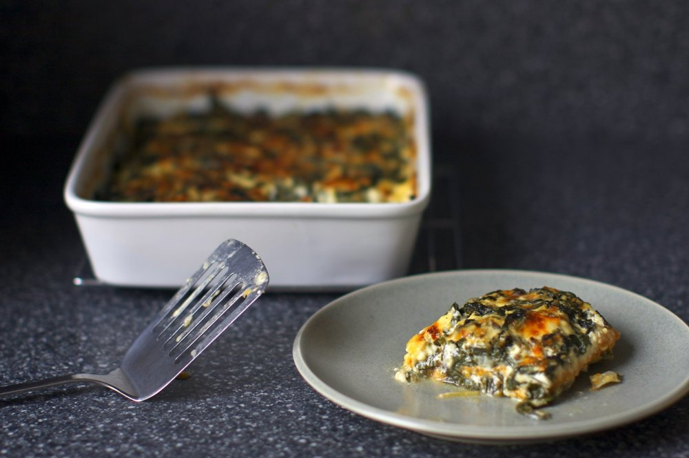 Swiss Chard and Sweet Potato Gratin from  Smitten Kitchen