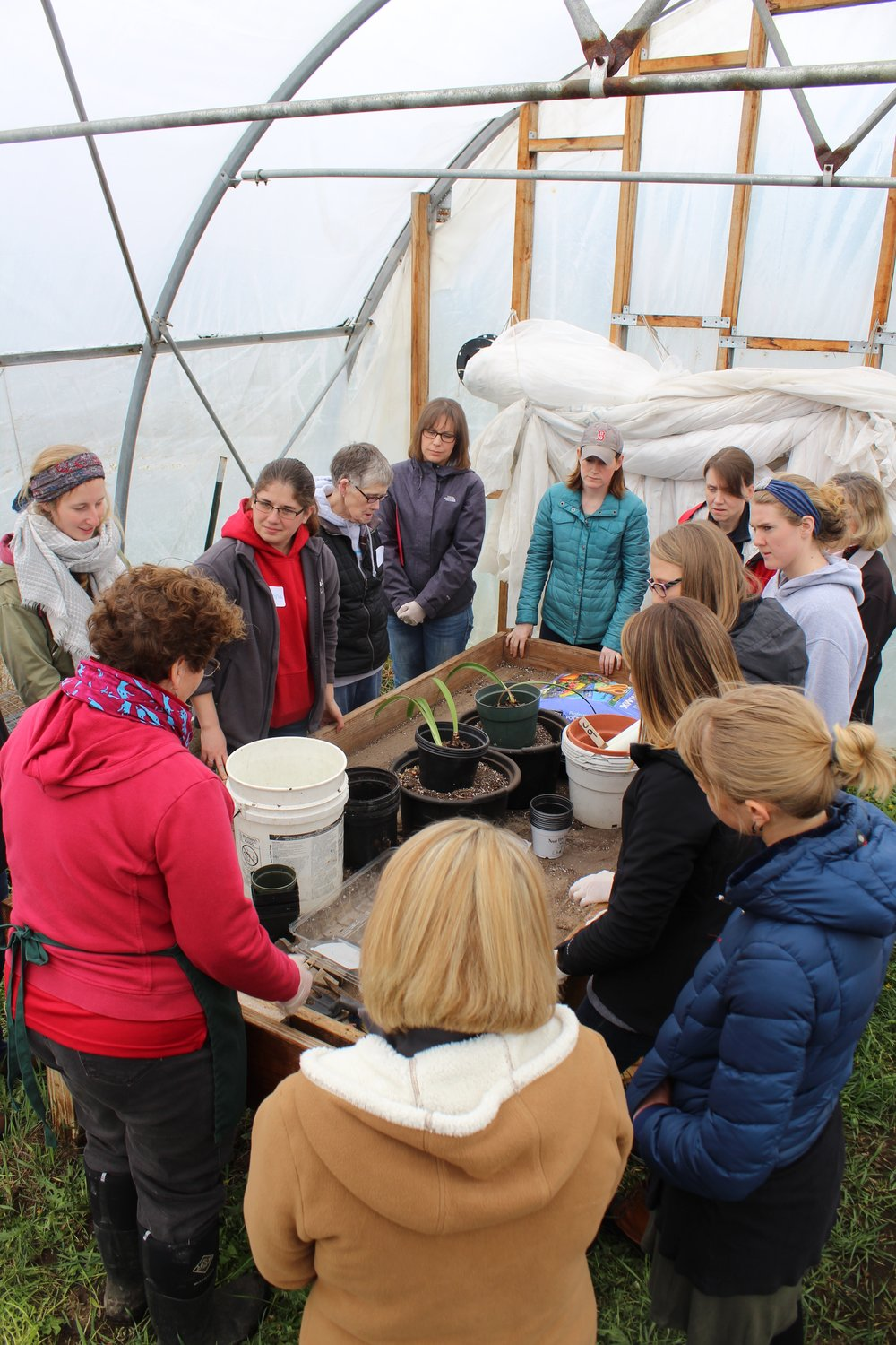 Educators at the St. Lawrence Learning Farm Workshop