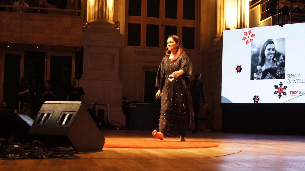 Renata encerrou o TEDx São Paulo, na Sala São Paulo - novembro de 2016