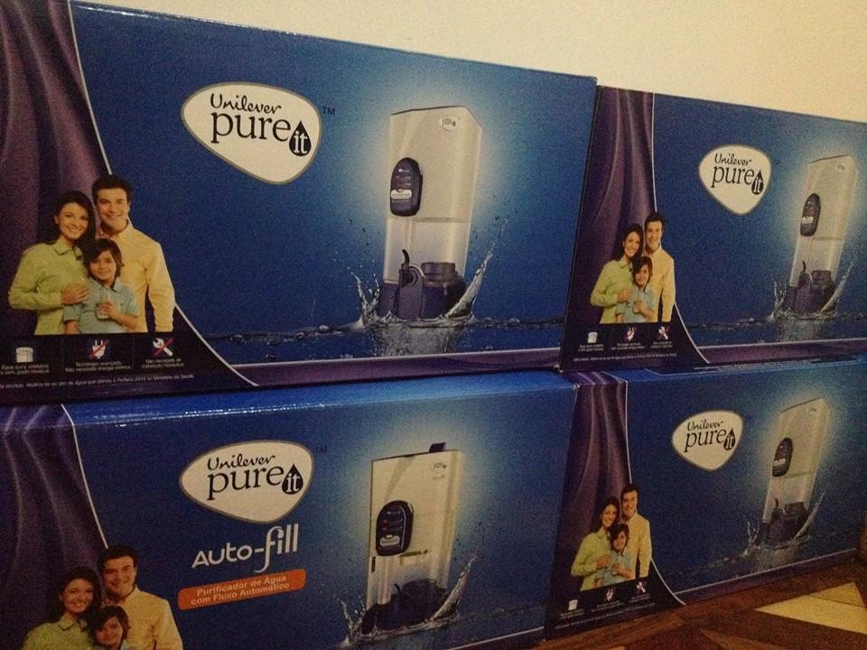 Doação de 4 filtros Pureit, que transformam todo tipo de água em água potável.