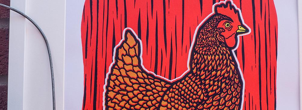 Brand New Chicken Print.