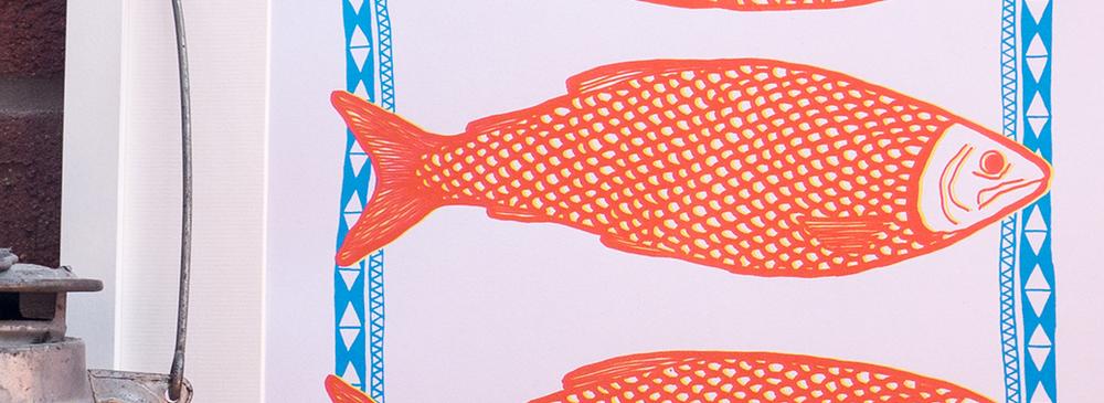 Fish Print Design.