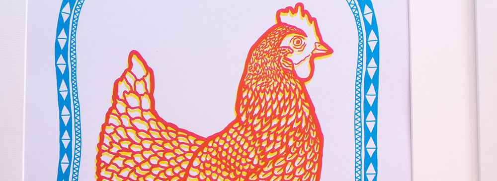 Lovely Chicken Print.