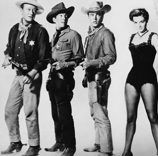 Those #gams on #angiedickenson as #feathers #riobravo #westernfashion #howardhawks #rickynelson #deanmartin #johnwayne #western #cowboys #filmjunkie #1959 #blackandwhitephotography #vintagefashion
