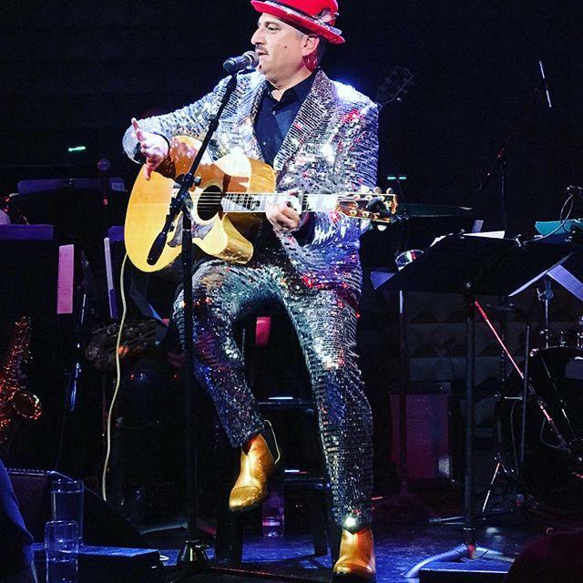 Disco Ball Suit on Julian Fleisher #bespoke by #elisefife #mirrorball #costumedesign #cabaret #joespub #julianfleisher #nycdowntown
