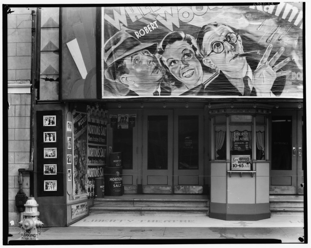 Walker Evans. Movie theatre on Saint Charles Street. Liberty Theater, New Orleans, Louisiana. Library of Congress.
