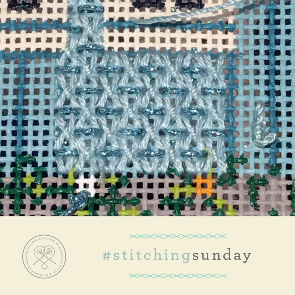Click on image to see on whimsicalstitch.com's Instagram account.Visit instagram.com/whimsicalstitch to see a library of stitched samples for select #whimsicalwednesday and #smallspacesunday stitch diagrams.