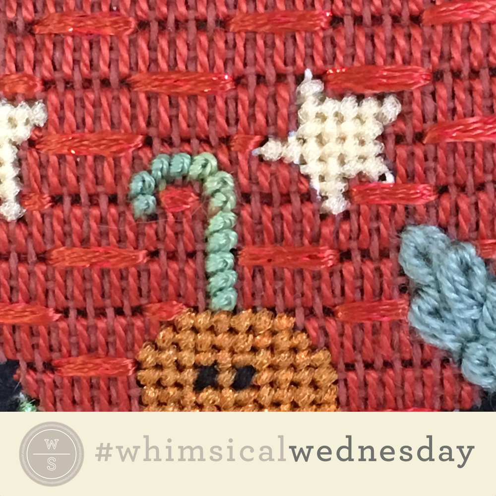 Click on image to see on instagram.com.  Visit instagram.com/whimsicalstitch to see a library of stitched samples for select #whimsicalwednesday and #smallspacesunday stitch diagrams.