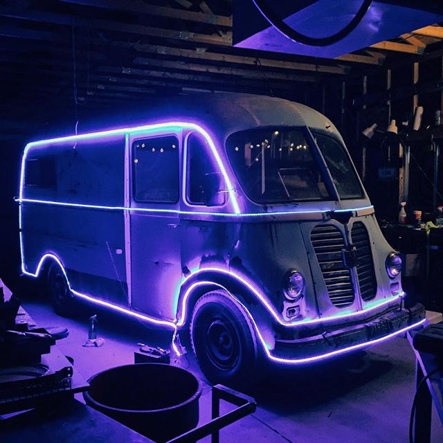 Found some time to finish the lights on the Metro Van. Of course I could've used double the LED strips, there's always New Years! Look for it sitting on our property off HWY 287 & 54G, North of Laporterico.  #yendrabuilt #metrovan #stepvan #classiccar #hotrod #shitrednecksdo #merrychristmas #adventuremobile #burningthemidnightoil #burningman?