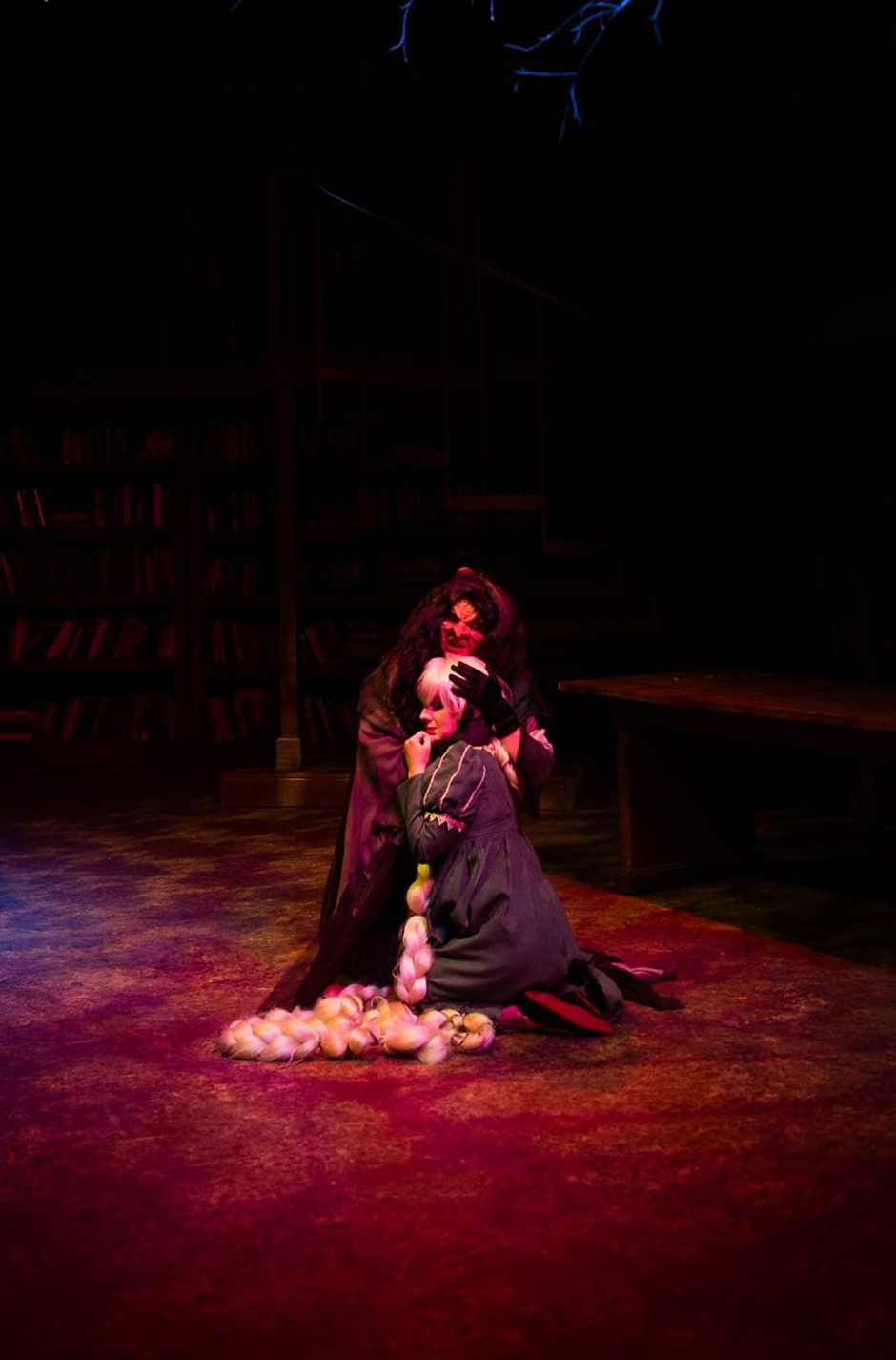 """Stay With Me."" Into the Woods at NextStop Theatre. Directed by Evan Hoffmann, Scenic Design by Steven Royal, Costumes by Kathy Dunlap."