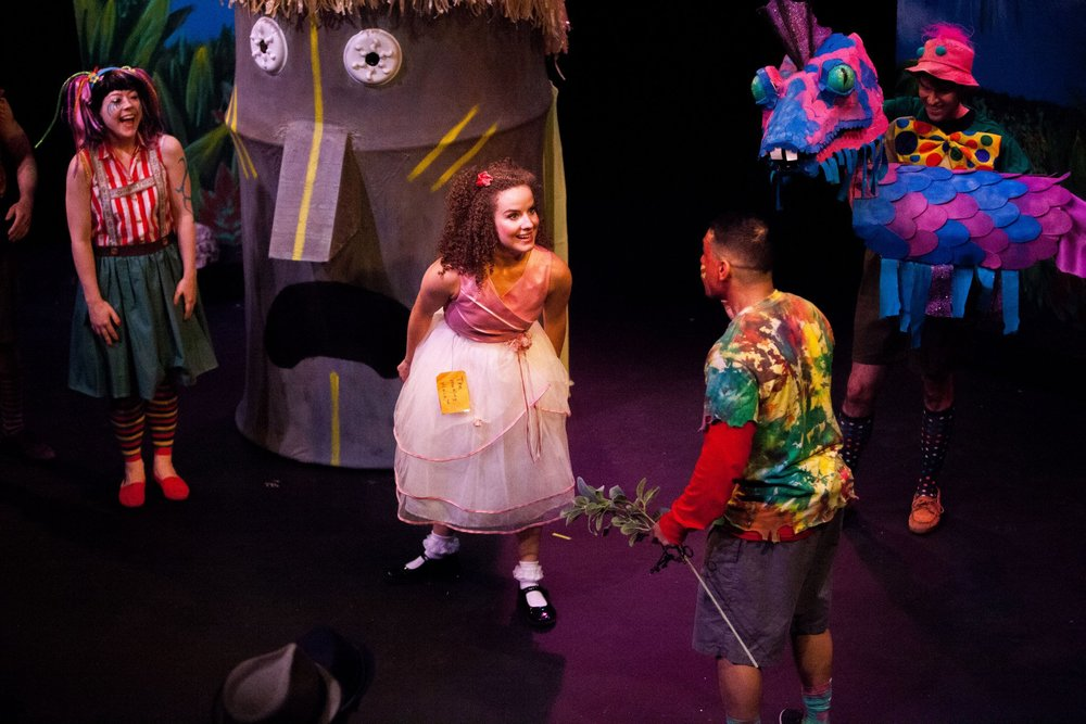 Good Good Trouble on Bad Bad Island at NextStop Theatre. Directed by Danny Tippett, Photo by Matt Rose Photography.