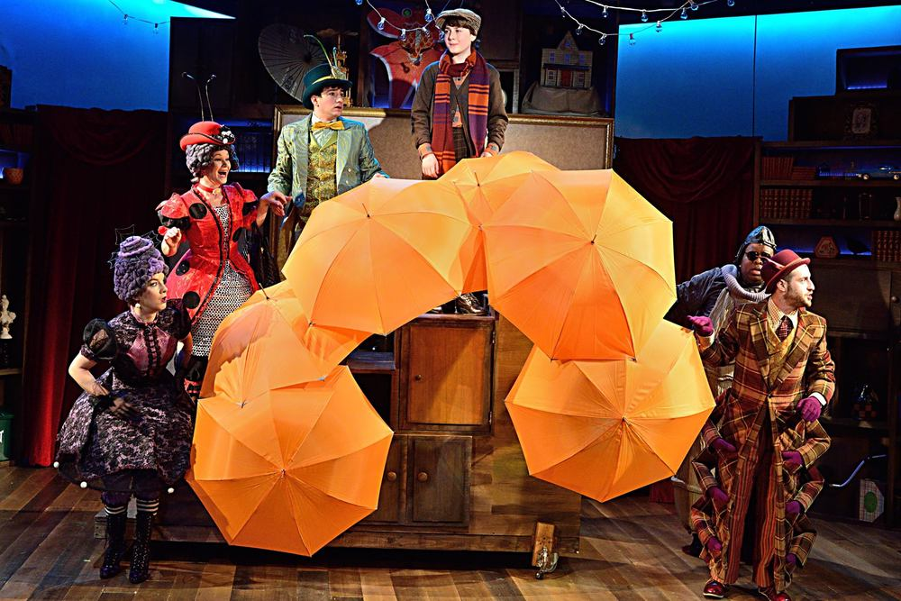 James and the Giant Peach at Adventure Theatre MTC. Directed by Michael Baron, Costumes by Jeffrey Meek, Scenic Design by Katie Sullivan