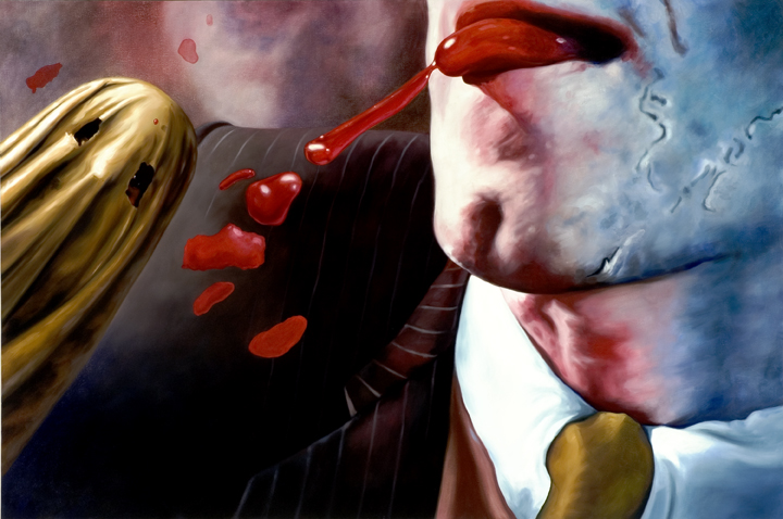 Undercover Appetite  oil on canvas   48 x 72