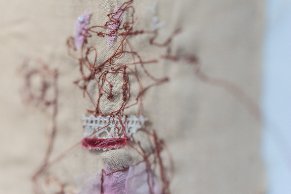 Stitched drawing close up II