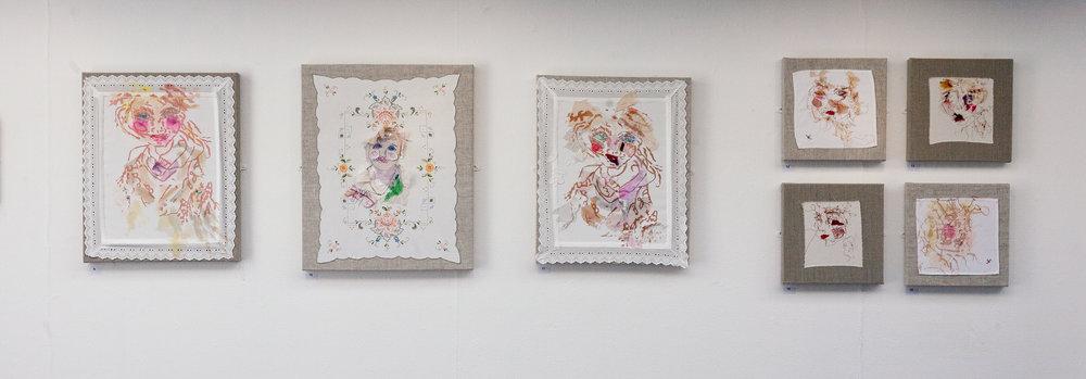 'Torn Umbrella' - Solo exhibiton (one wall view)