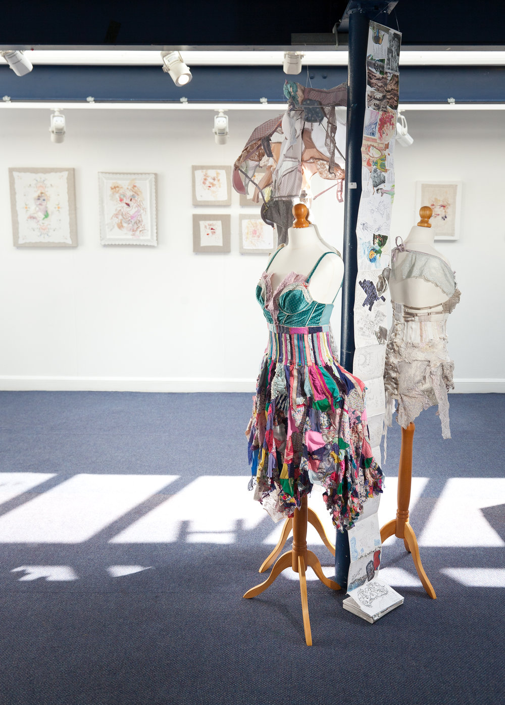 'Torn Umbrella' Solo exhibition (View showing dresses)