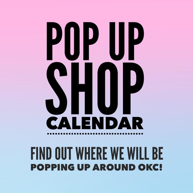 Pop Up Shop Calendar!