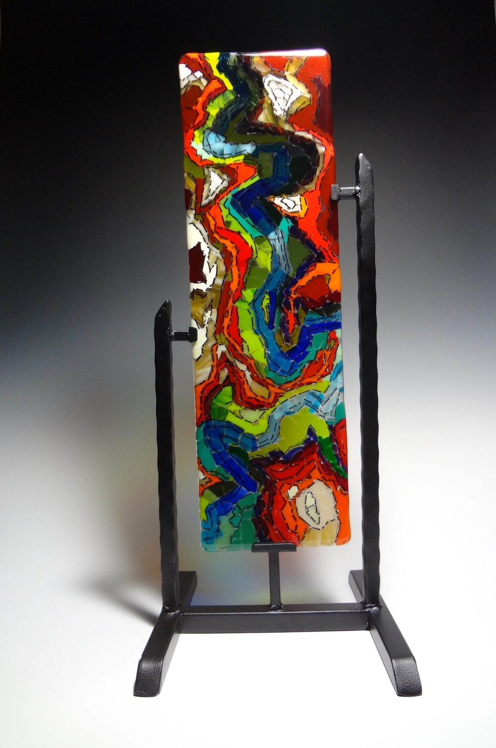 "Zion: Angels Landing<a href=>→</a><strong>24"" x 7"" $950 (includes stand)</strong>"