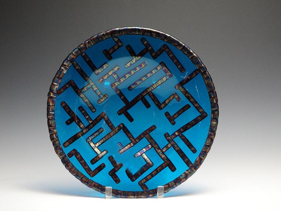 "Maze<a href=>→</a><strong>12"" Diameter Plate $250 SOLD</strong>"