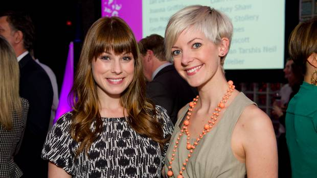 Meghan Heffern (left) and Jessica Steblyk at Unmasked (JJ Thompson/JJ Thompson) Source:  Party photos of the week – The Globe and Mail