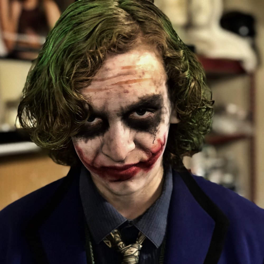 Joker Make-Up on my son. (Halloween 2017)