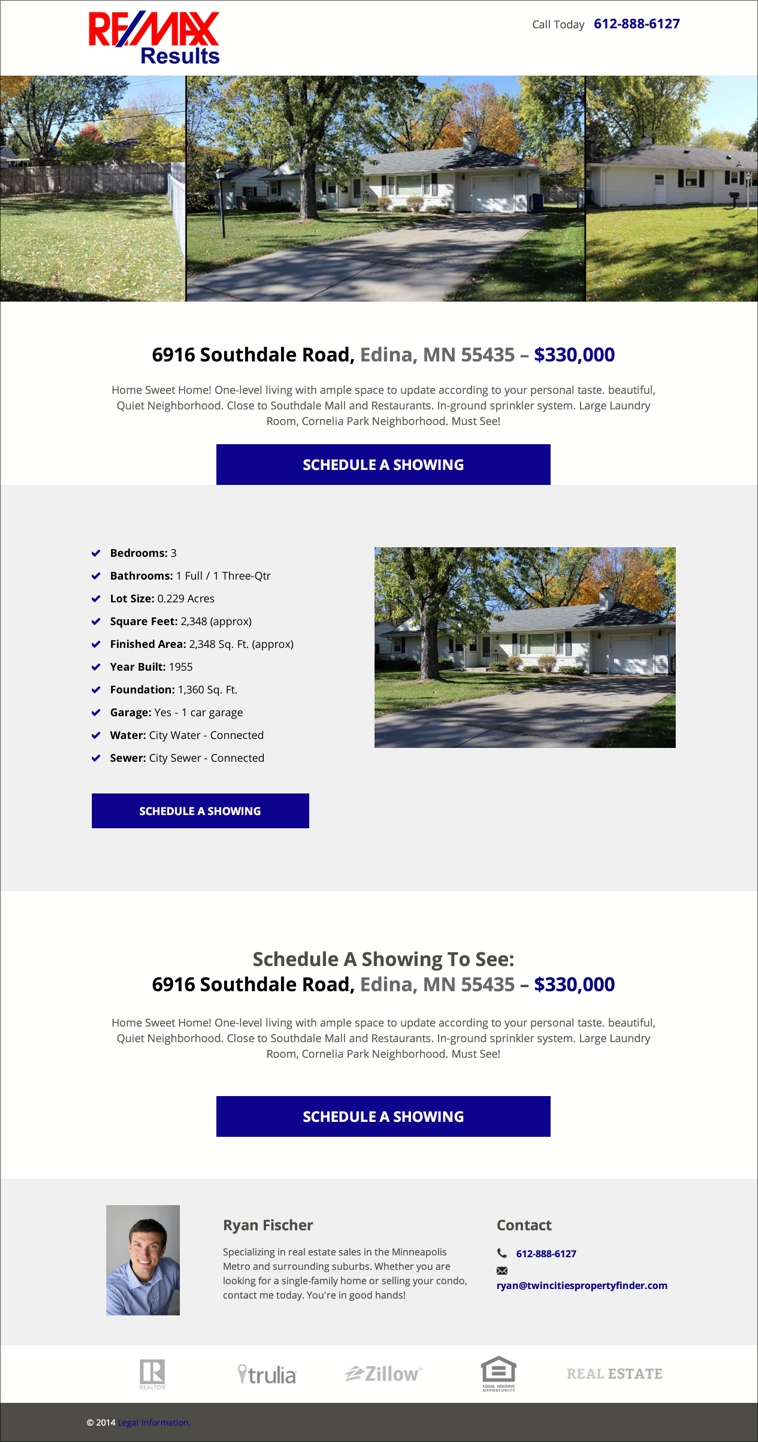 5 real estate templates for building high converting landing pages check out this example of our template being applied to a real property listing pronofoot35fo Gallery