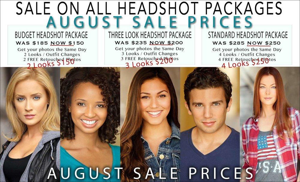 Headshot Sale Prices