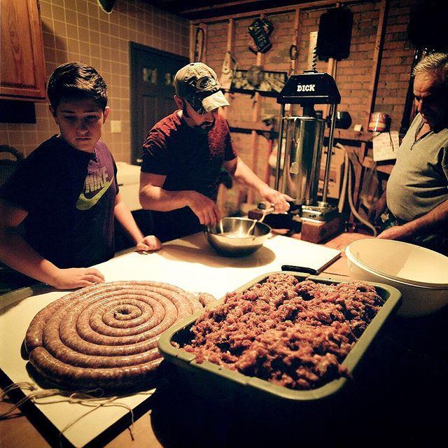 Family Traditions  #hasselblad500cm #kodak #portra400 #filmphotography #filmphotographic #filmisnotdead #keepfilmalive #sausagemaking #family #traditions #gobrokeshootfilm