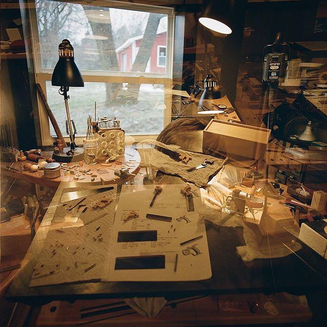 Unexpected double exposure of @marcoterenzi 's miniature saws.  #hasselblad500cm #doubleexposure #portra400 #kodak #filmphotography #filmphotographic #keepfilmalive #gobrokeshootfilm #miniatures