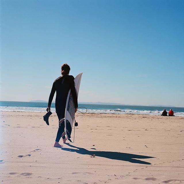 Taken a few weeks back of my Michigan homie @blain_leblanc hunting down some swells - #hasselblad500cm #kodak #ektar100 #filmphotographic #filmphotography #gobrokeshootfilm #keepfilmalive #surf #newportbeach