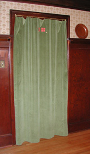 Portiere - a special curtain for a doorway. Portieres are a bit different in construction as both sides should look finished.