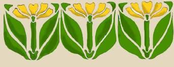 FLOWER STENCIL DESIGNS -