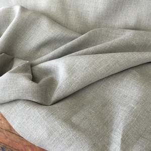 """Irish Linen  : at left, the classic Arts & Crafts fabric, medium weight and excellent for all designs. In natural, a true taupe, at 54"""" wide $24.00 per yard."""
