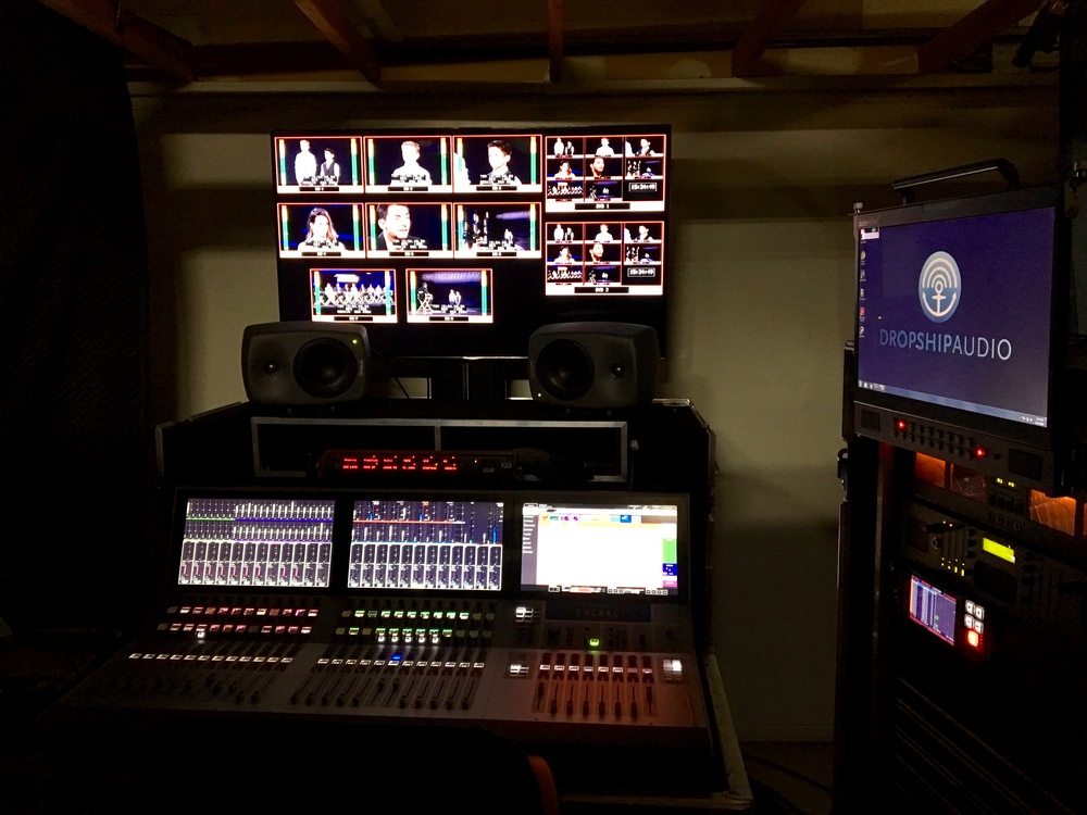 Pasadena Callback's Audio Control Room.