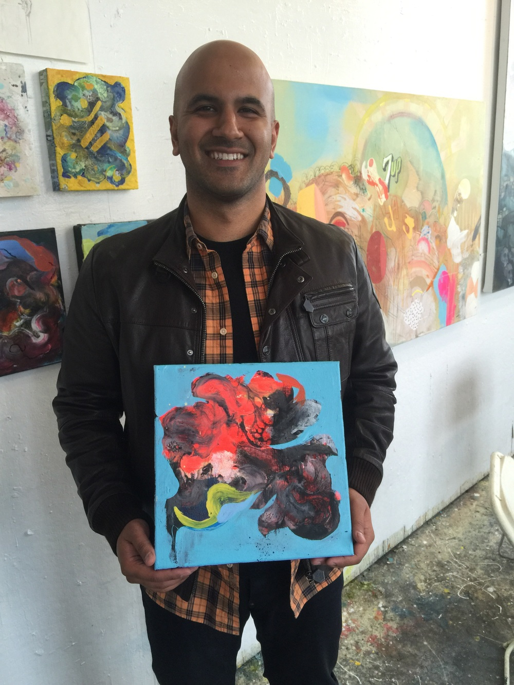 "Tarun D and his piece which he dubbed  ""the heart, as it gets rid of  💩..."" I like the title."
